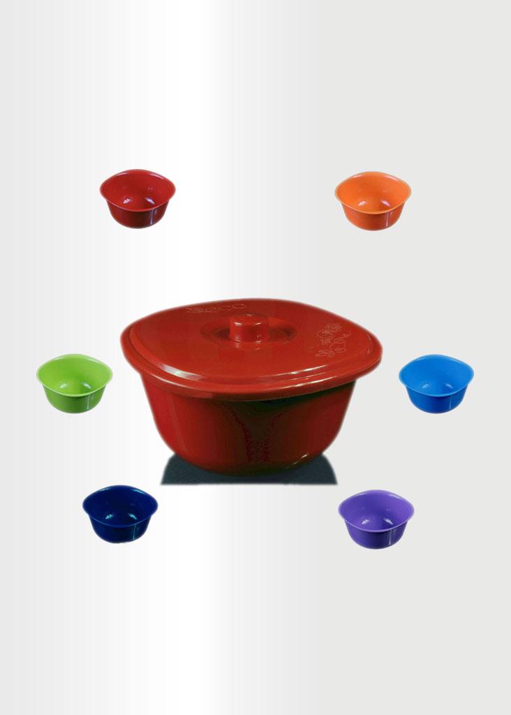 Bowl Rainbow Set Red
