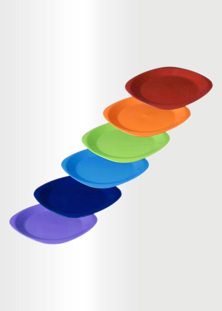 Flat Plate Large Rainbow Set