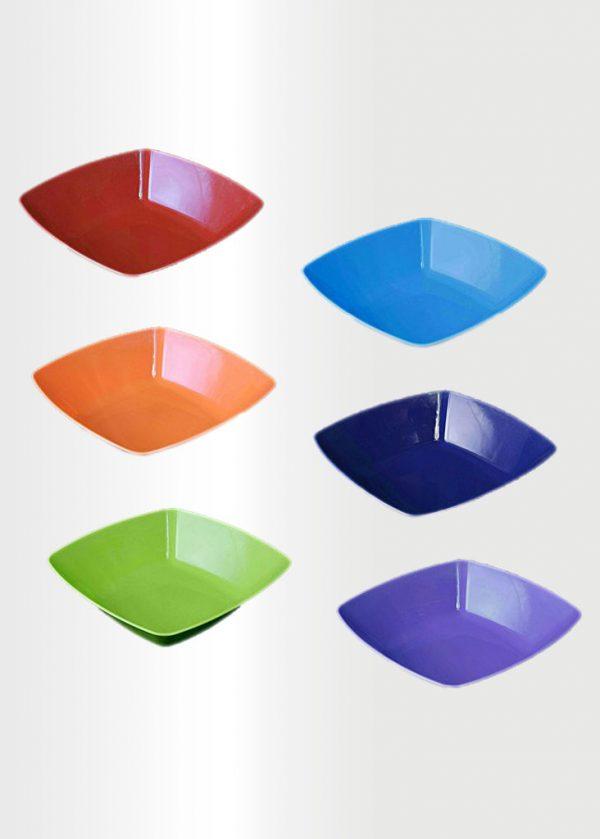 Square Bowl Large Rainbow Set
