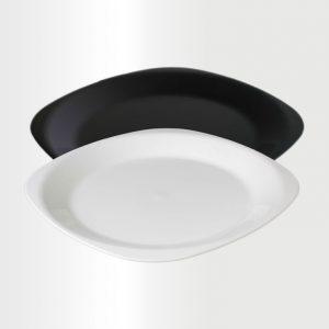 Flat Large Plate B-W