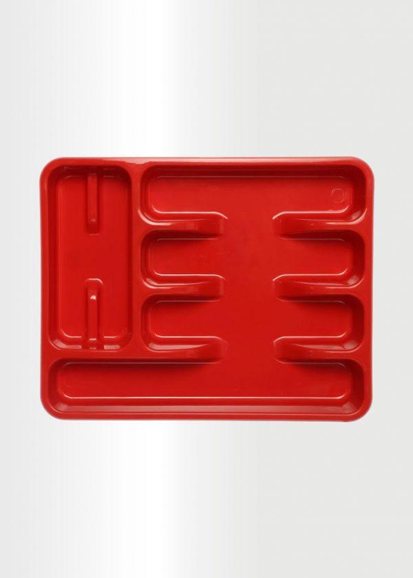 منظم ادوات المائدة احمر