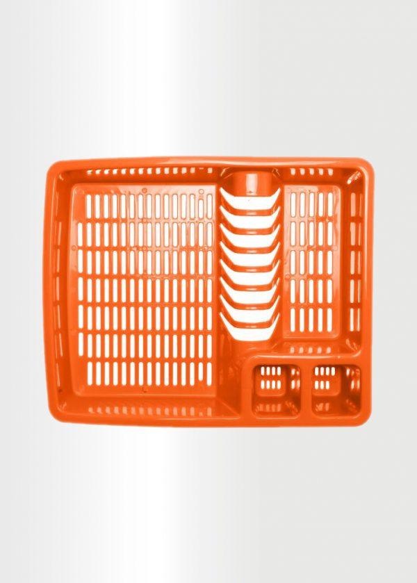 منظم وصفاية الأطباق برتقالي