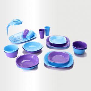 Dinnerware Set - Azure & Violet