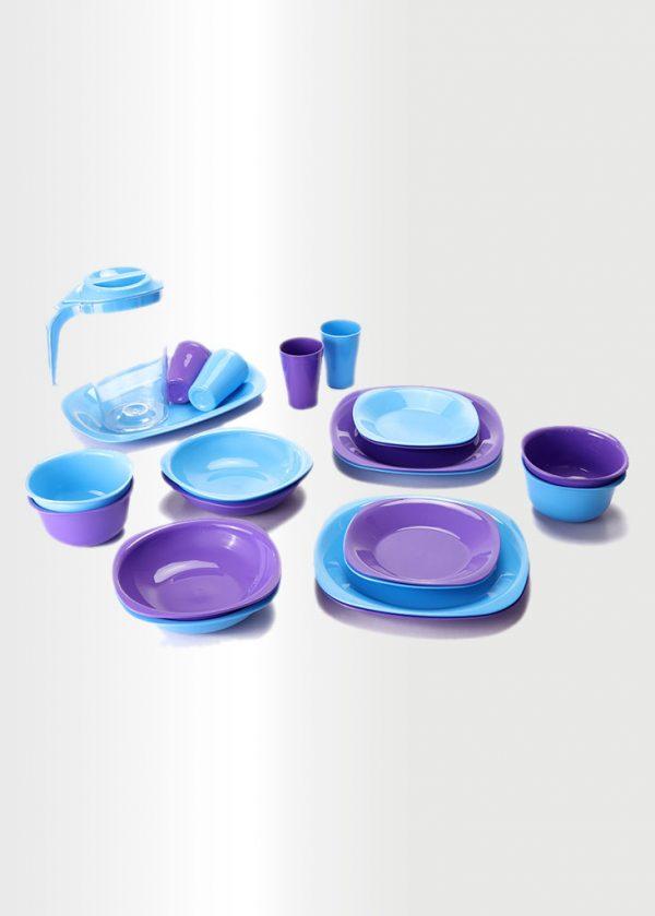 Dinnerware Set – Azure & Violet