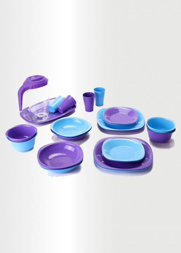 Dinnerware Set – Violet & Azure