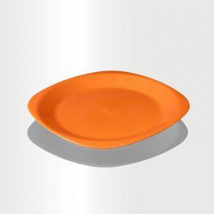 طبق مسطح وسط برتقالي