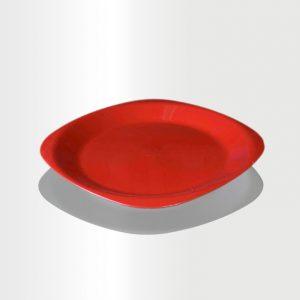 طبق مسطح وسط احمر