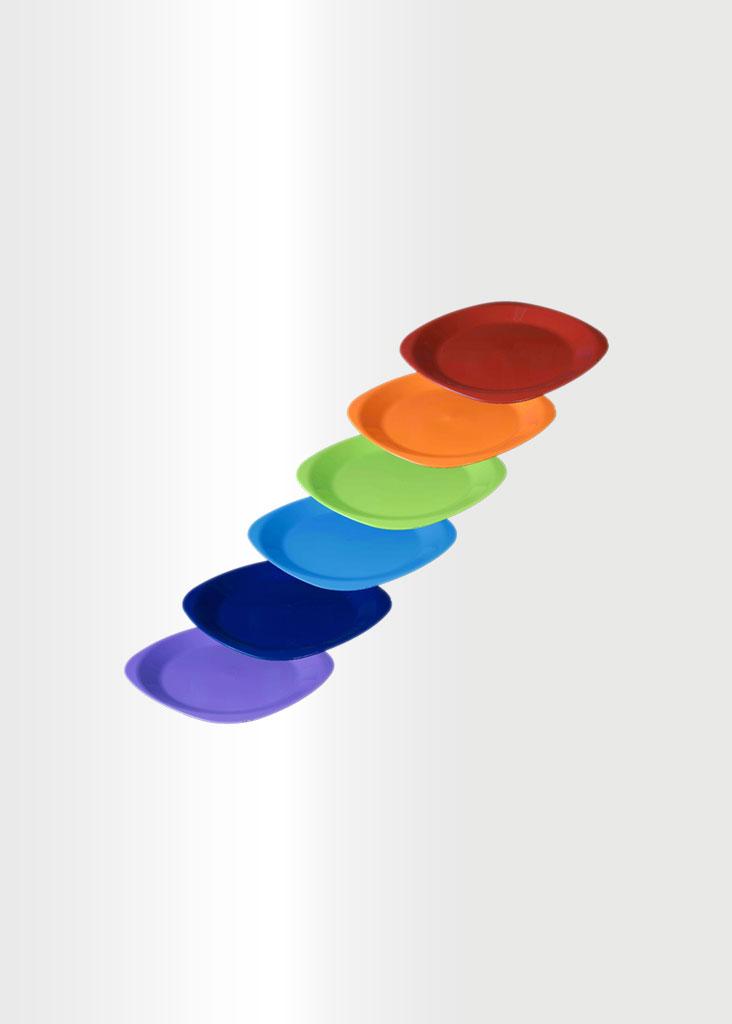Flat Plate Small Rainbow Set