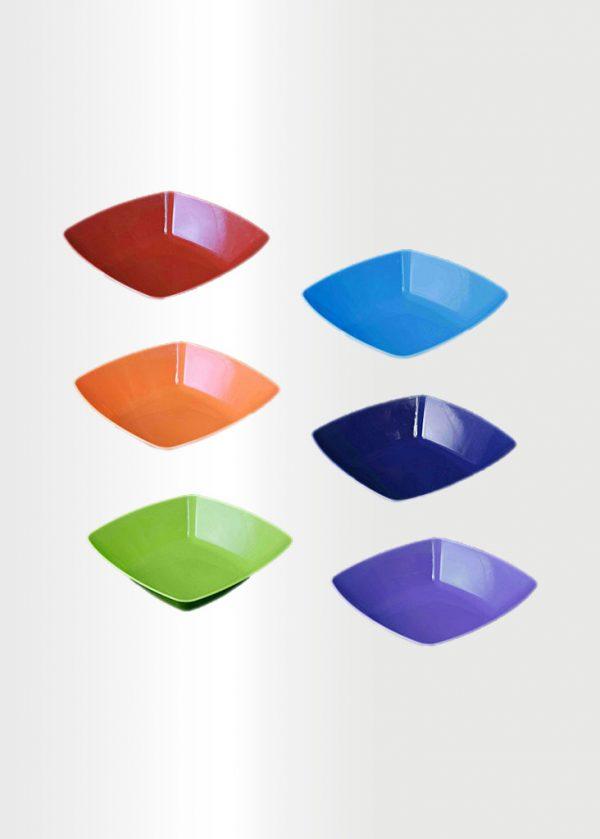 Square Bowl Medium Rainbow Set