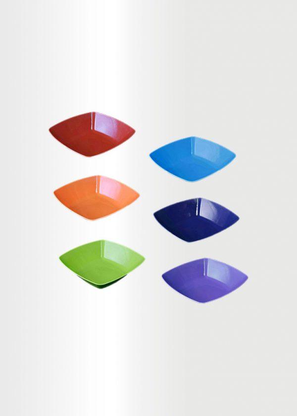 Square Bowl Small Rainbow Set