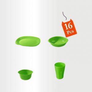 طقم عشاء – 16 قطعة – اخضر بستاج