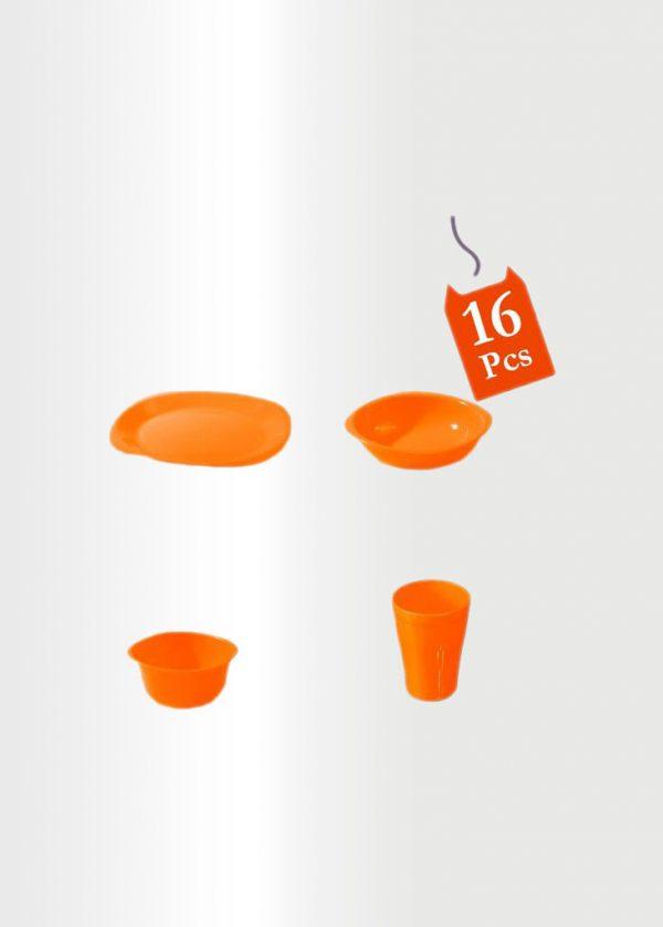 Dinnerware Set 16 Pcs Orange