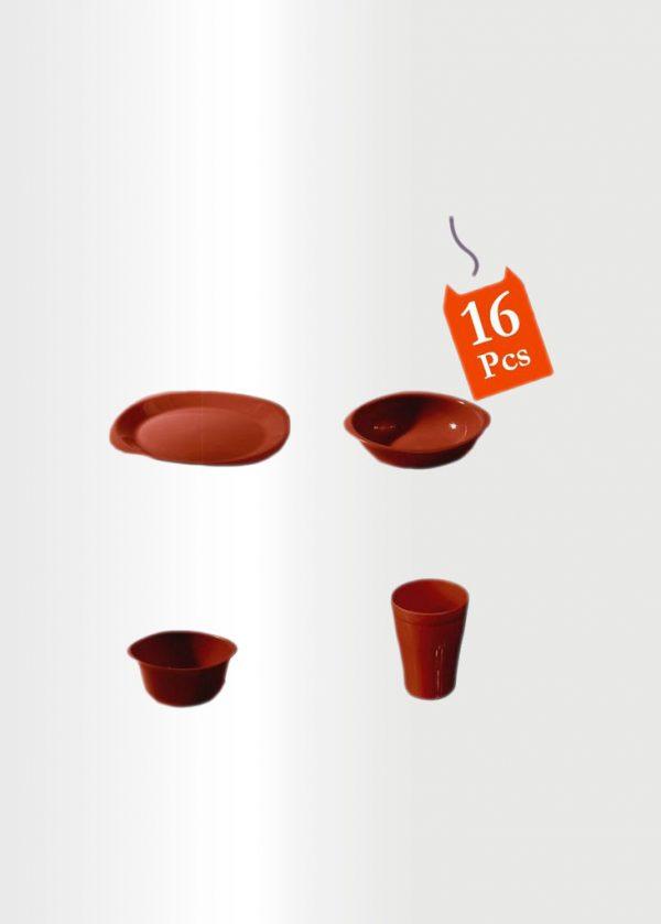 Dinnerware Set 16 Pcs Red