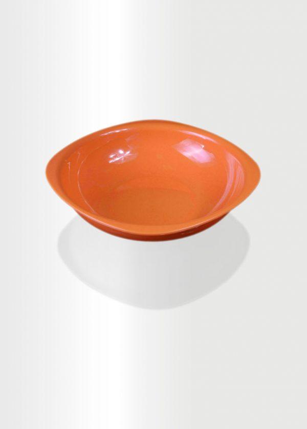 Deep Plate Large Orange