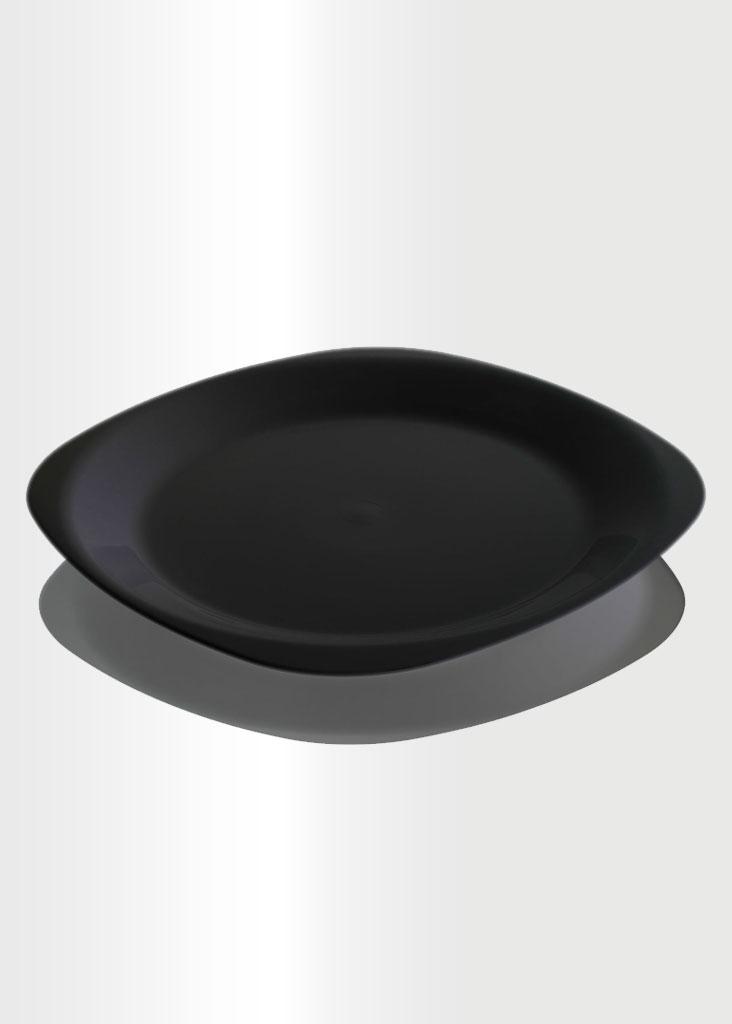 Flat Plate Large Black