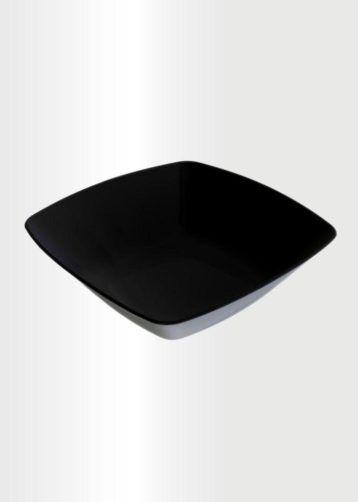 Square Bowl Large Black