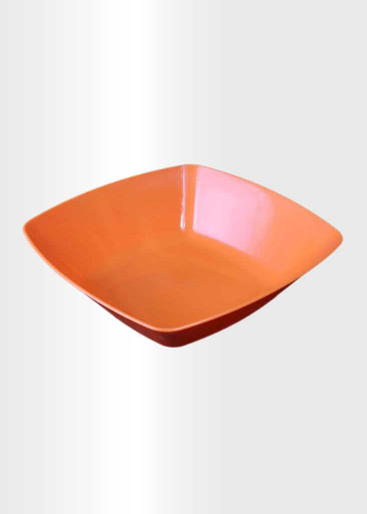 Square Bowl Large Orange