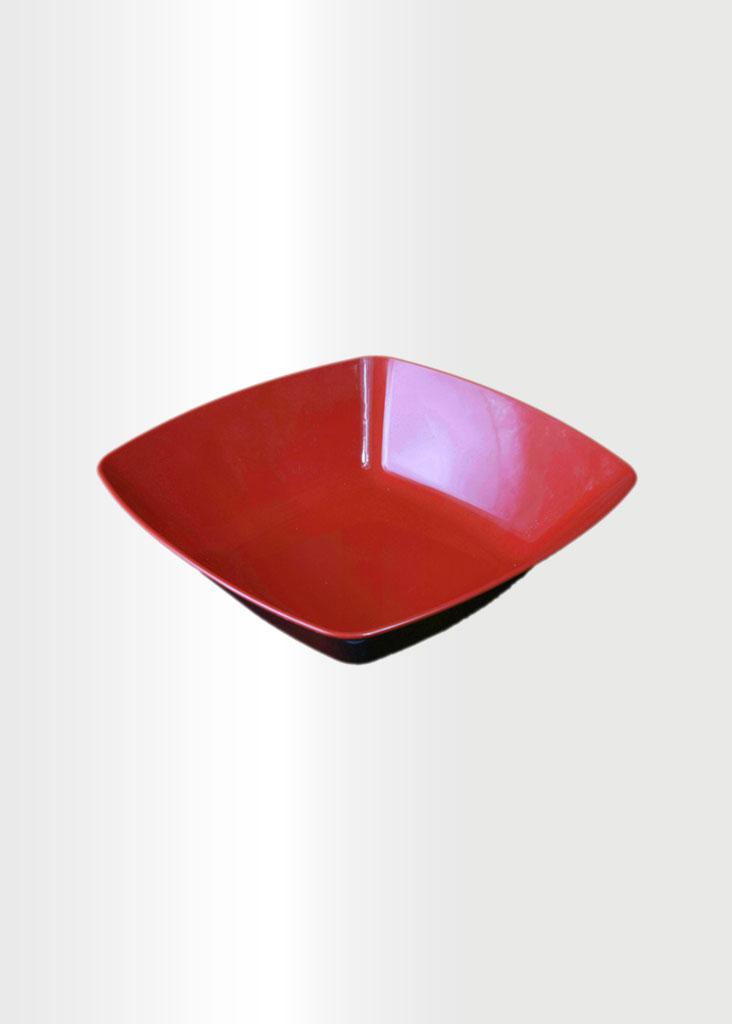 Square Bowl Medium Red